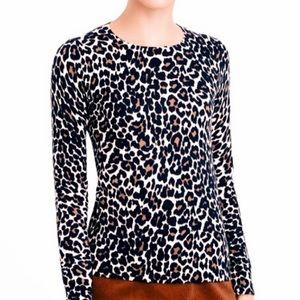 J. Crew Leopard Print Sweater Size Medium